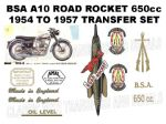 BSA A10 Golden Flash 1950 to 1954 Transfer Decal Set (4)